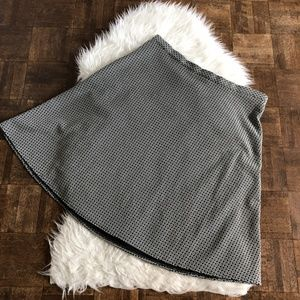 Christopher & Banks XL Black White A Line Skirt